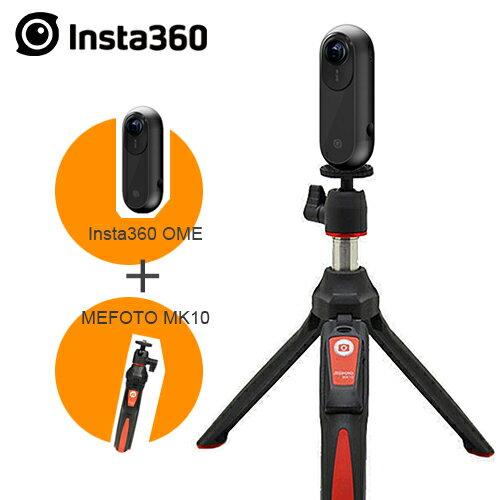 MY DC數位相機館:限時iphone專用附藍芽自拍棒)INSTA360ONE全景相機360度4K錄影直播-黑(公司貨)