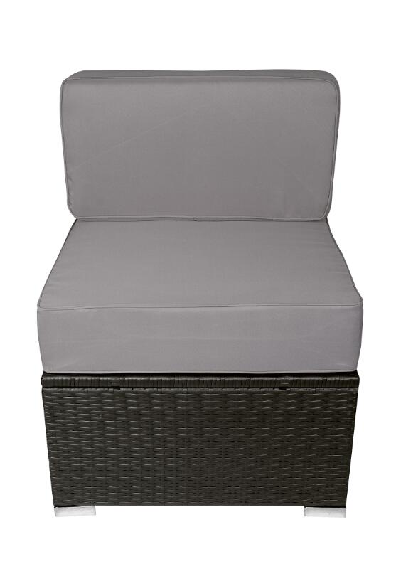 MCombo 6082 13PC Bigger Size Outdoor Furniture Luxury Patio With Black  Wicker And Grey Cushion Cover 6082-13PC-EY