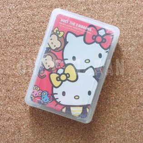 【真愛日本】18032200028撲克牌-KT雙胞胎姊妹三麗鷗kitty凱蒂貓桌遊紙牌撲克牌
