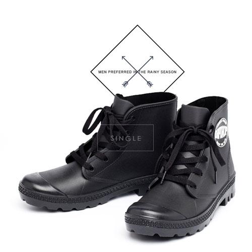 LINAGI里奈子【s72379】雨鞋男防水鞋廚師鞋防滑雨靴短筒球鞋水鞋套鞋冬水靴保暖釣魚鞋