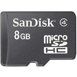 SanDisk 8GB microSDHC Class 4 8G microSD High Capacity micro SD SDHC C4 TF Flash Memory Card SDSDQ-008G + SD Adapter