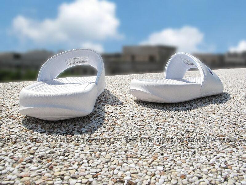 Shoestw【733250200】CHAMPION 拖鞋 運動拖鞋 小LOGO 白色 男女尺寸 2