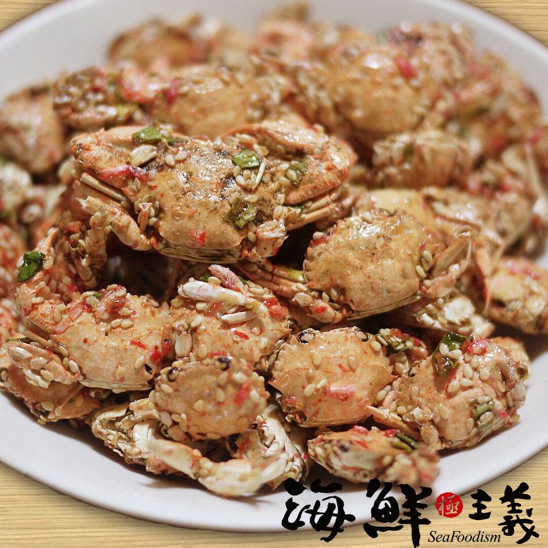 ~海鮮主義~扁蟹酥 ^(120±5公克  包^) ~ 整隻扁蟹新鮮製成 ~不同於咔啦蟹的酥