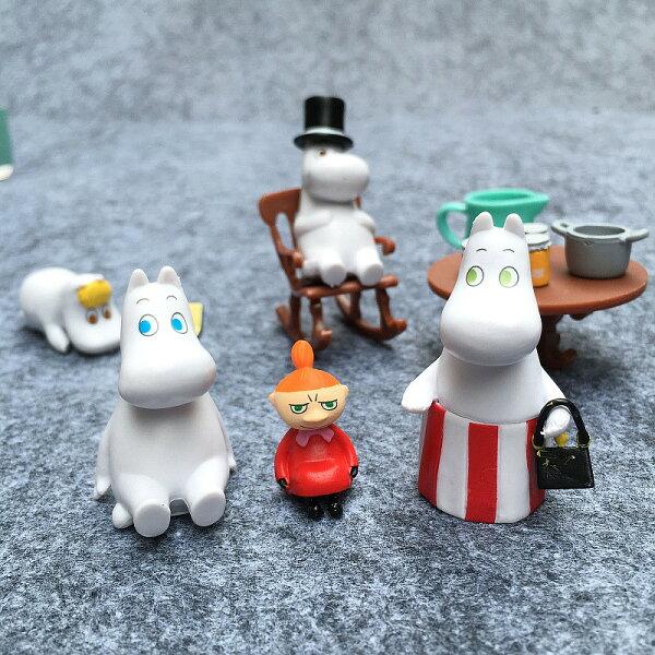 日本嚕嚕米家族oomin姆明疊疊樂公仔景觀公仔擺設兒童玩具禮物交換禮物
