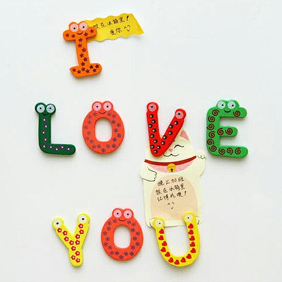 ♚MY COLOR♚大小寫英文字母磁鐵(26入) 兒童 早教 學習 冰箱 木質 吸附 裝飾 玩具【M103-1】