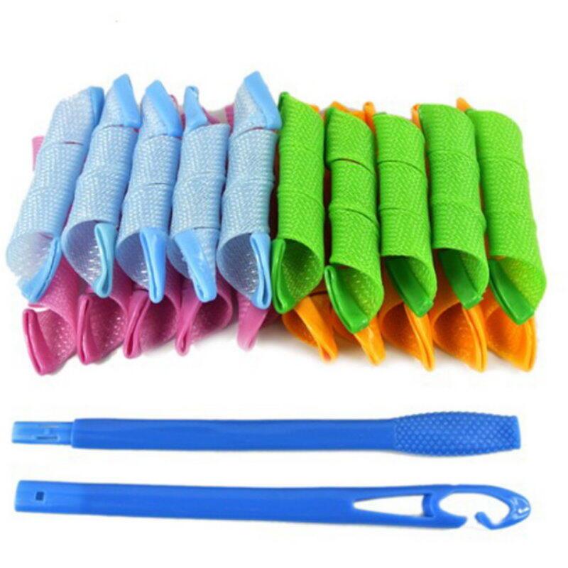 神奇彩色魔術捲髮繩 髮捲棒 螺絲捲 波浪捲 髮捲繩 髮捲條【DQ361】  123便利屋
