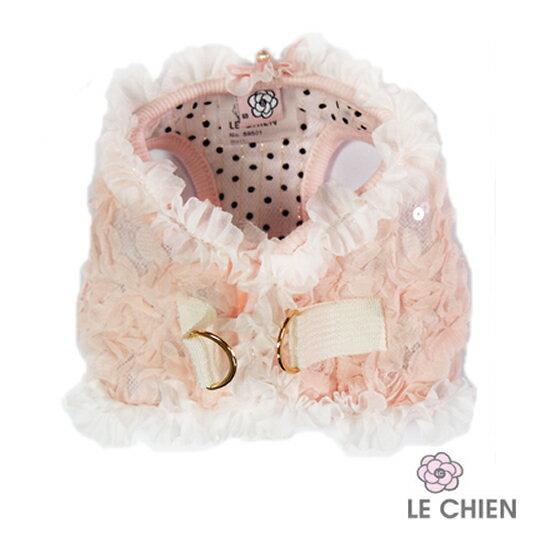 S9501-11 SELINA浪漫胸背 粉 (S-L )/寵物衣服/狗衣服/貓衣服/寵物胸背