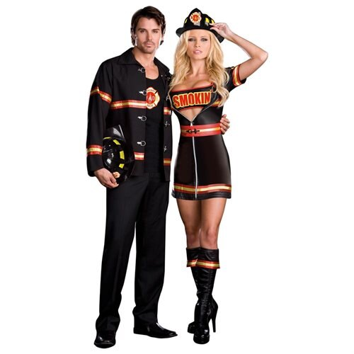 Smokin' Hot Fire Department Man Adult Halloween Costume 1