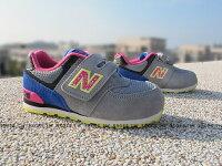New Balance 美國慢跑鞋/跑步鞋推薦Shoestw【KG574O6I】NEW BALANCE 574 童鞋 運動鞋 小童 灰藍 麂皮 潑墨