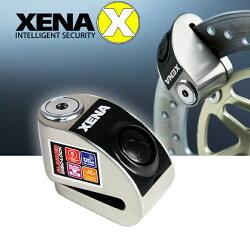特殺$1980 全新福利品【免運送收納套】XENA XZZ5LSS 不鏽鋼機車碟煞鎖 120分貝 5mm鎖心【禾笙科技】