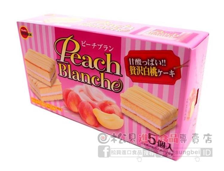 《松貝》北日本白桃布朗尼蛋糕5入95g【4901360324804】
