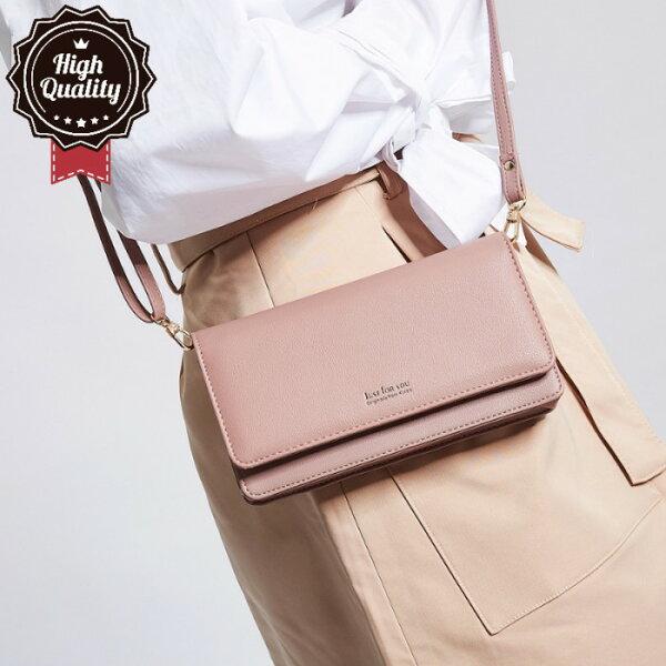 【現貨+預購】側背包韓版JUSTFORYOU簡約百搭多用包錢包側背包NO.JY108