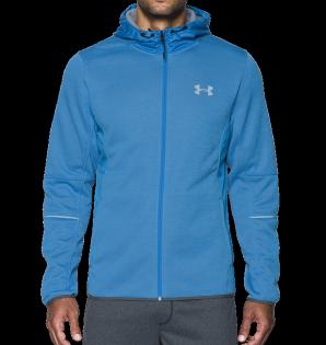 《UA出清5折》Shoestw【1280754-787】UNDERARMOURUA服飾外套連帽運動外套保暖內刷毛水藍色男生