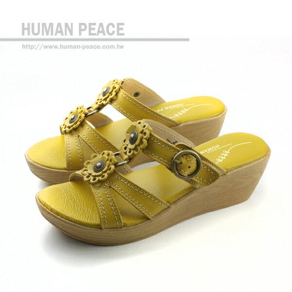 HUMAN PEACE 厚底鞋 黃色 女鞋 no062