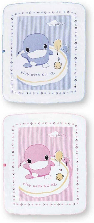KUKU 酷咕鴨 嬰兒透氣尿床墊 藍/粉 KU2195