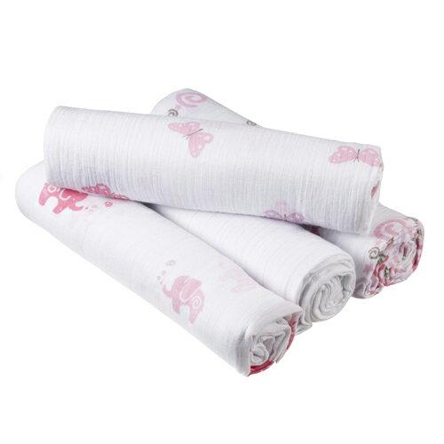 美國aden+anais新生兒外出包巾(4入)-女孩粉系列AA-S108【悅兒園婦幼生活館】