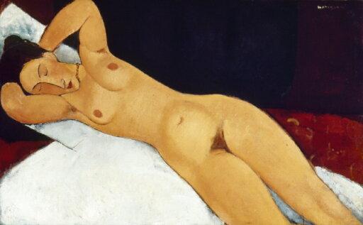 Modigliani Nude 1917 Noil On Canvas By Amedeo Modigliani 1917 Poster Print by (18 x 24) c88c65ff5b325180bb13492d4dd801dd
