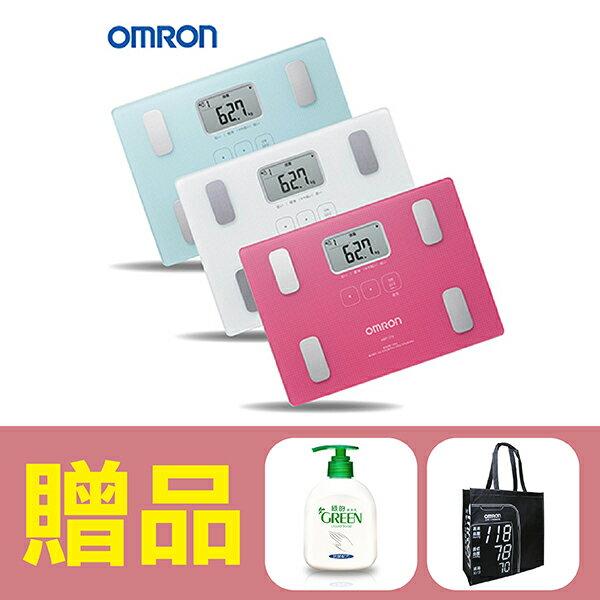 【歐姆龍OMRON】體重體脂計HBF-216,贈品:GREEN潔手乳x1+提袋x1