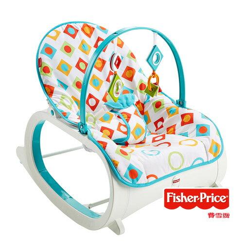【Fisher-Price】費雪 可攜式安撫躺椅 (幾何圖案)