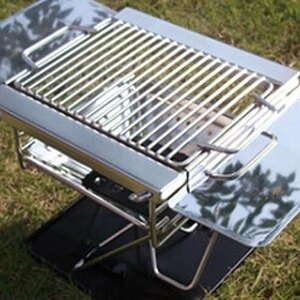 美麗大街【20107011530】小型1-2人焚火台烤肉架有側架方便置物