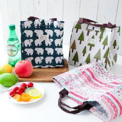 帆布手提保溫袋 手提袋 手提包 便當袋 便當包 環保袋 午餐 中餐 便當 飯盒 野餐 鋁箔 保溫 保冰【B063279】