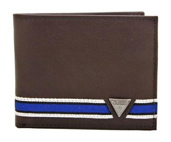【瞎買天堂x現貨免運】GUESS 藍條紋卡包分離皮夾 短夾 錢包 31GU220003【CBGS0104】