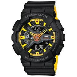 【東洋商行】免運 CASIO 卡西歐 G-SHOCK 超重型戰機雙顯運動錶(限量) GA-110BY-1ADR 原廠公司貨 附保證卡 保固期一年