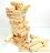 【省錢博士】兒童木製玩具-小號原木色疊疊樂積木 0