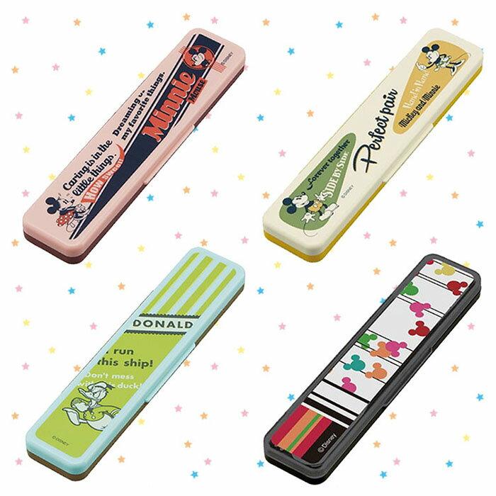 Disney 迪士尼 米奇 Mickey 米妮 Minnie 唐老鴨 湯筷附盒餐具組 日本進口正版 258770