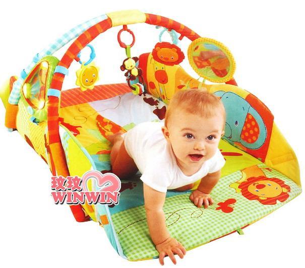 kids II-Bright Starts - KI09219 豪華多功能遊戲墊 - 森林家族 ~ 提供無限的遊戲與歡樂