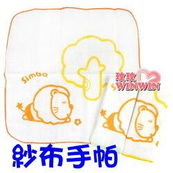 小獅王辛巴 ( NO : S5142) 印花紗布手帕(3入裝) 天然材質- 100%純棉