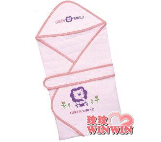 小獅王S.4175 元氣綿柔兩用包巾 (黃、粉、藍-可選) 柔軟保暖,猶如媽媽溫暖懷抱