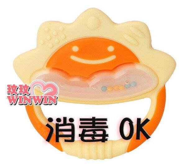 日本 - 利其爾 Richell - 423035 橘黃色一般型固齒器(附收納盒)耐熱120度~蒸煮消毒OK