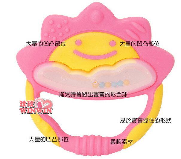 日本 - 利其爾 Richell - 503522 粉紅色一般型固齒器 ( 附固定夾) 耐熱120度 ~ 消毒OK