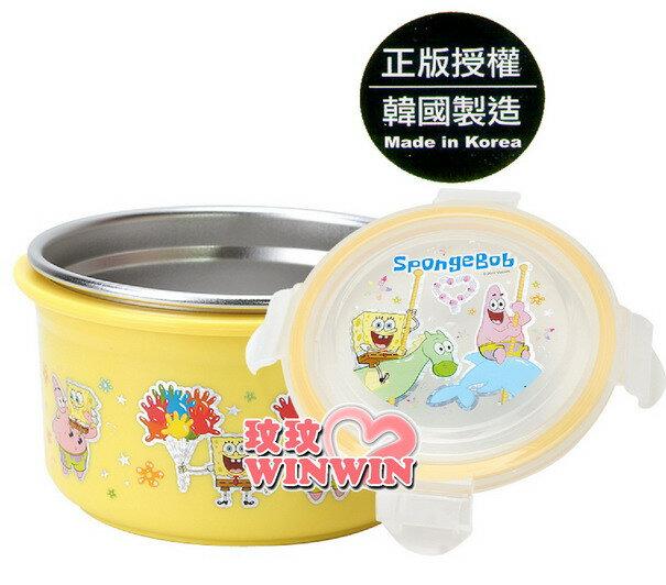 海綿寶寶-633600不鏽鋼環保碗-加深型 (上蓋 - 密封設計) 使用高品質304不鏽鋼材製