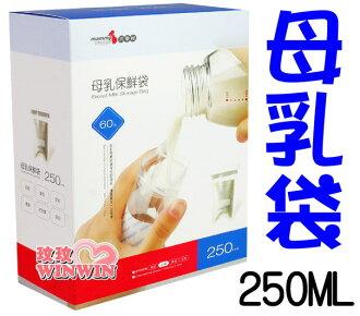 六甲村母乳保鮮袋 - 母乳冷凍袋「250ML-60枚裝」台灣製-讓您安心無慮地儲存母乳