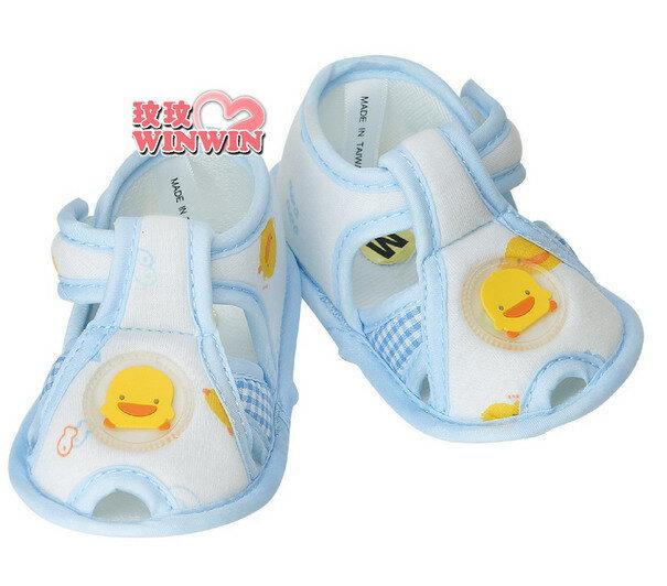 黃色小鴨 GT-81178 格狀嬰兒學步涼鞋 「黃、藍」可選 ~ 超可愛上市