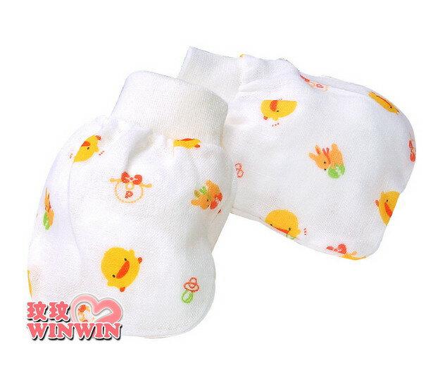 黃色小鴨GT-81621印花紗布手套 ,呵護寶寶細嫩的肌膚