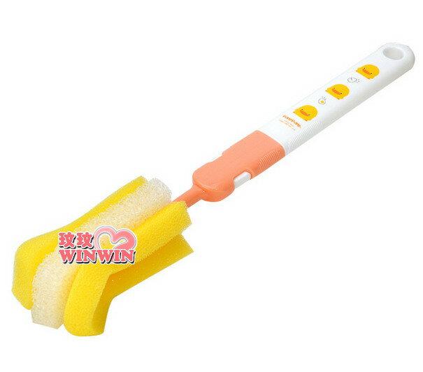 黃色小鴨GT-83173 組合式奶瓶刷 ~ 可更換刷頭設計,省錢好選擇
