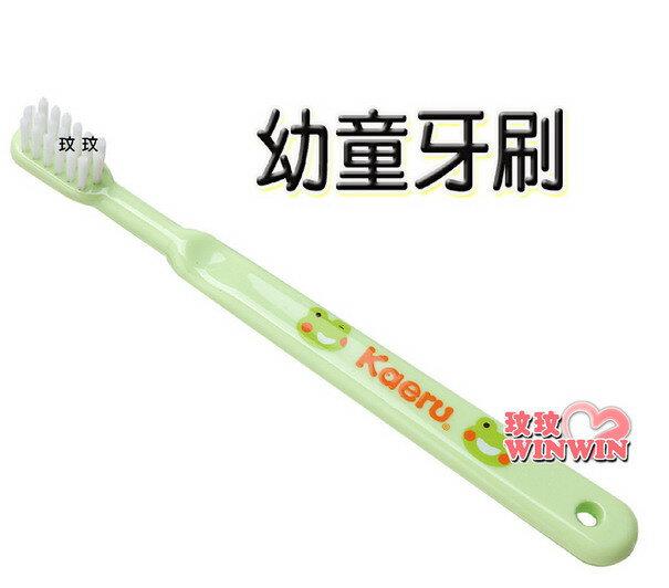哈皮蛙 K-53058 幼童牙刷 ~ 適合18M-36M寶寶使用,小巧的刷頭適合嬰幼兒的口腔