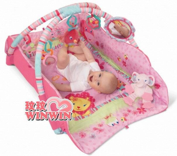 kids II-Bright Starts - KI09010 豪華多功能粉紅陽光遊戲地墊 ~ 提供無限的遊戲與歡樂