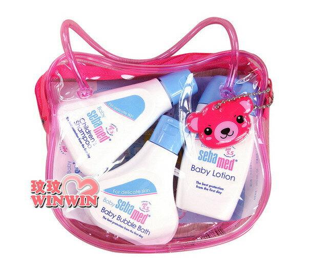 施巴 seba 小熊旅行組 (泡泡浴露50ml+乳液50ml+洗髮乳50ml) 專為寶寶設計,外出攜帶方便