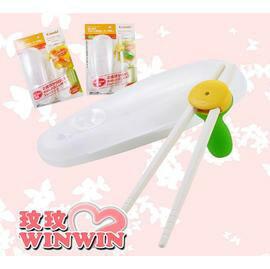 Combi 學習筷子組-附收納盒(81017橘、81020綠) 配合寶寶成長進行三階段訓練