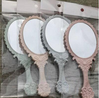 PS Mall 復古花紋手柄化妝鏡鏡子【J1303】 4