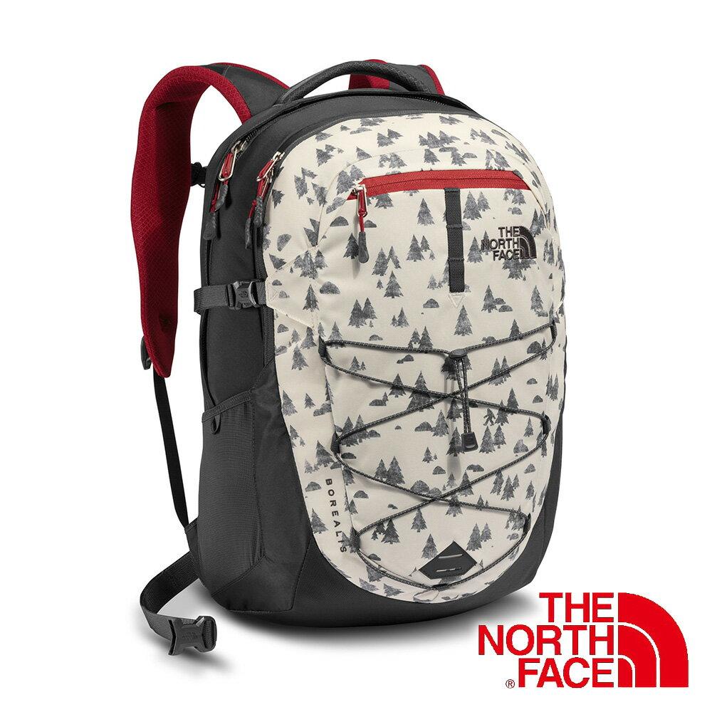 The North Face BOREALIS 雙肩電腦背包28L『白 / 紅』 後背包 輕量背包 書包 登山包 CHK4 - 限時優惠好康折扣