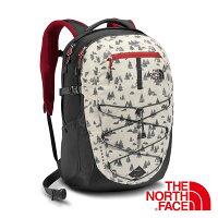 The North Face BOREALIS 雙肩電腦背包28L『白/紅』 後背包 輕量背包 書包 登山包 CHK4-桃源戶外登山露營旅遊用品店-運動休閒推薦