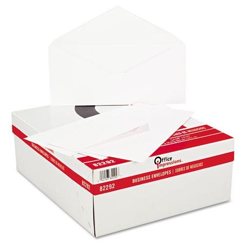 Office Impressions Plain Envelopes, #10, White, 500/Box 2