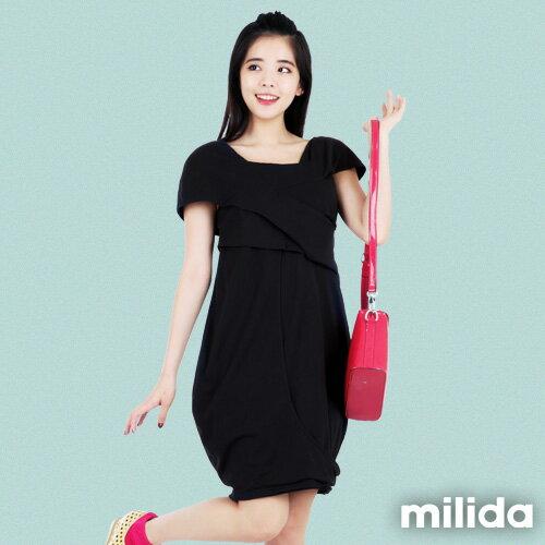 【Milida,全店七折免運】-春夏商品-造型款-甜美花苞洋裝 0