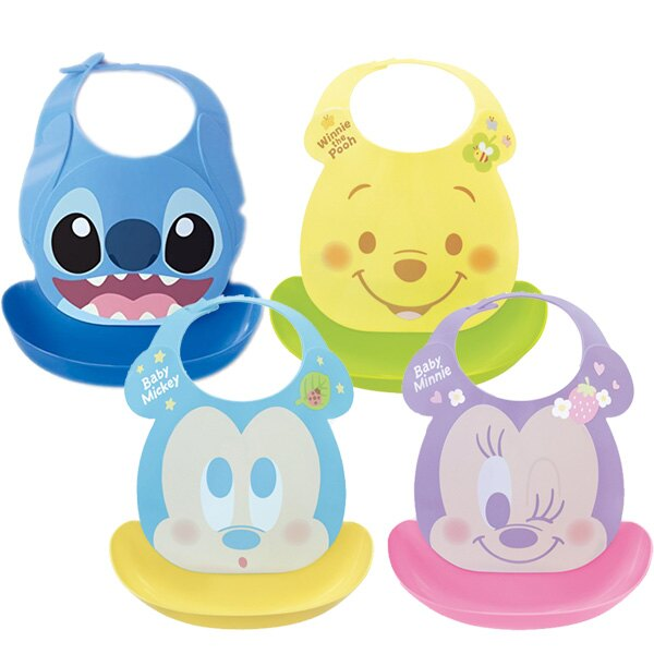 日本 Disney 迪士尼系列 立體圍兜 4款
