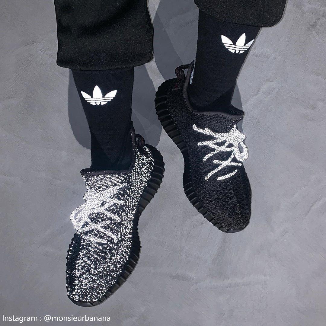 KUMO SHOES-Adidas Yeezy Boost 350 V2 Black Reflective FU9007 滿天星 黑 全反光